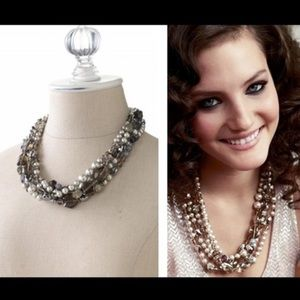 Stella & Dot multi strand statement necklace
